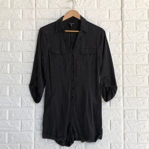 Bebe button up lyocell romper